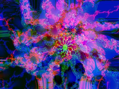 Digital Art - Hydrangea Explosion 2 by Max DeBeeson