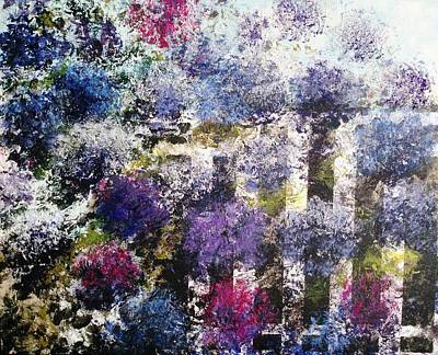 Top With Oil Painting - Hydrangea Flowers In The Morning 2 by Eliane Ellie