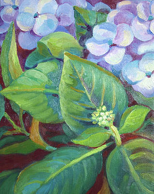 Painting - Hydrangea For Valentine 2011 by Linda Ruiz-Lozito