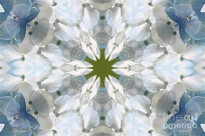 Digital Art - Hydrangea Kaleidoscope by J McCombie