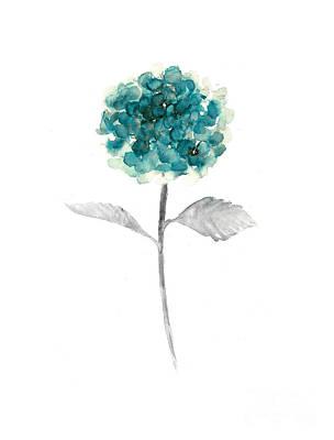 Hydrangea Nursery Art Print Art Print