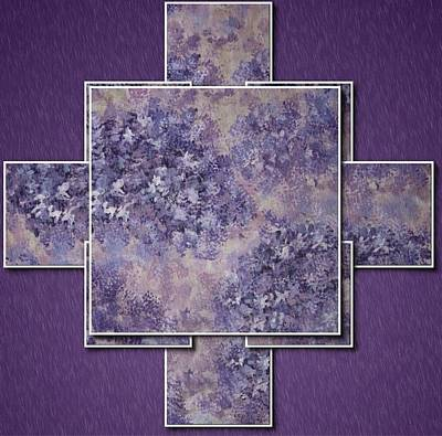 Digital Art - Hydrangea Panels by Megan Walsh