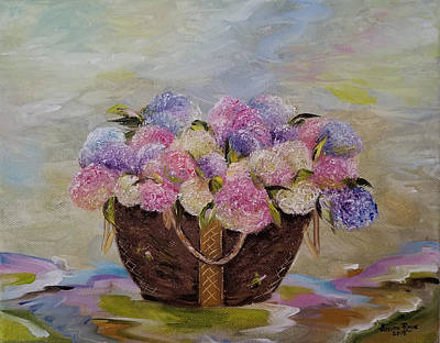 Painting - Hydrangea Puddles by Judith Rhue