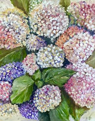 Painting - Hydrangeas by Chuck Gebhardt