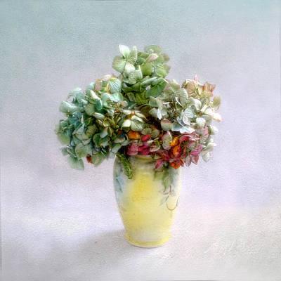 Photograph - Hydrangeas In Autumn Still Life by Louise Kumpf
