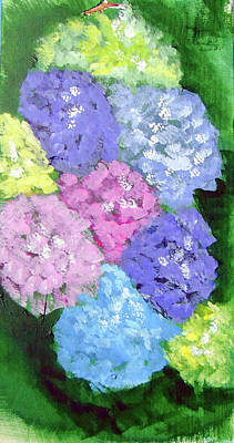 Painting - Hydrangeas by Loretta Nash