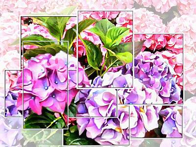 Digital Art - Hydrangeas Montage by Dorothy Berry-Lound