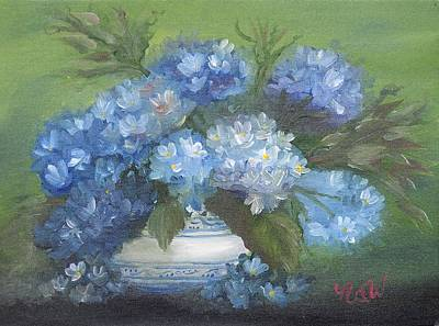 Painting - Hydrangeas by Natascha de la Court