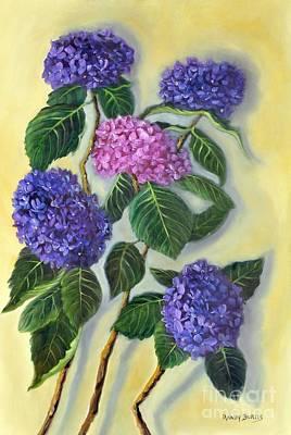 Painting - Hydrangeas by Randy Burns