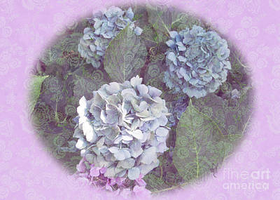 Digital Art - Hydrangeas by Victoria Harrington