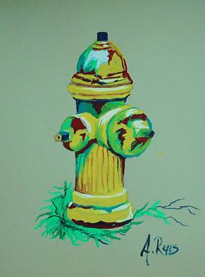 Painting - Hydrant by Angel Reyes