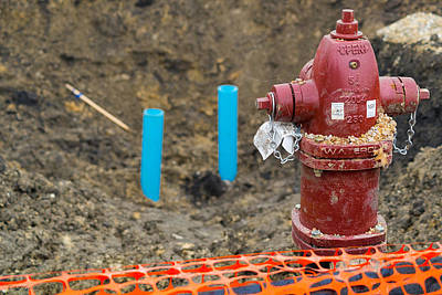 Construction Photograph - Hydrant by Erich Grant