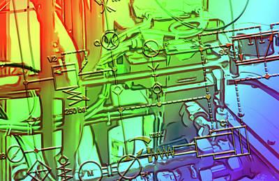 Digital Art - Hydraulic Power Unit by 2bhappy4ever