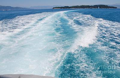 Photograph - Hydrofoil Wake At Corfu by David Fowler