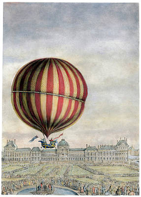 Photograph - Hydrogen Balloon, 1783 by Granger