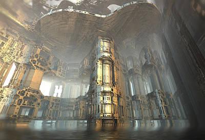 Digital Art - Hydroponics Cistern by Hal Tenny