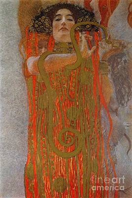 Brown Snake Painting - Hygieia by Gustav Klimt