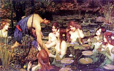 Naiad Painting - Hylas And The Nymphs by John William Waterhouse