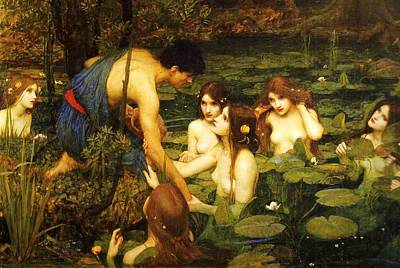 Painting - Hylas And The Nymphs by Pg Reproductions