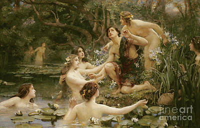 Naiad Painting - Hylas And The Water Nymphs by Henrietta Rae