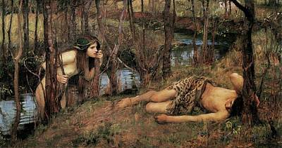 Painting - Hylas With A Nymph by John William Waterhouse