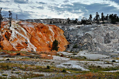 Photograph - Hymen Terrace At Mammoth Hot Springs - Yellowstone National Park Wy by Christine Till