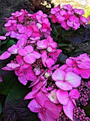 Photograph - Hyper Pink Blooms by Nick Heap