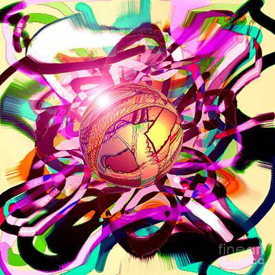 Digital Art - Hyperball by Dan Sheldon