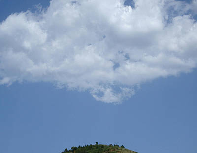 Photograph - Hyperion - Lonely Cloud On Blue Sky by Robert Schaelike