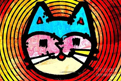 Mixed Media - Hypnocat by Matthew Naiden