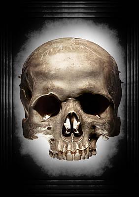 Horror Digital Art - Hypnotic Skull by Luke Tyler
