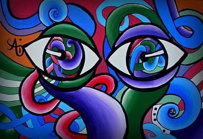 Painting - Hypnotized Eyez by Ai P Nilson