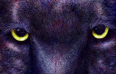 Hyptnotist The Black Panther Art Print by JoLyn Holladay