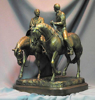 Joseph Smith Bronze Sculpture - Hyrum And Joseph Smith Statue by Stan Watts and Kim Corpany