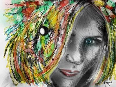 Abstract Sights Mixed Media - Hysteria by Ricardo Mester