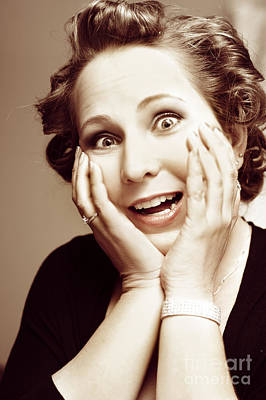 Shock Photograph - Hysterical Bride Pulling Funny Bridezilla Face by Jorgo Photography - Wall Art Gallery
