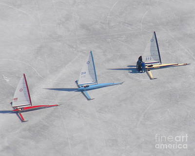 Photograph - I-004 Ice Boat Trio by Bill Lang