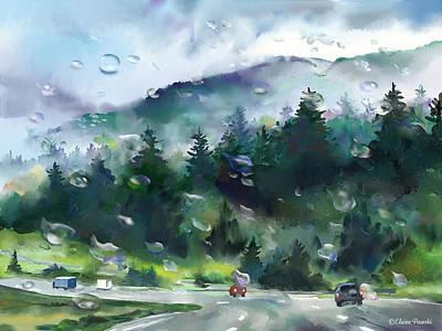 Painting - I-5 Rain by Elaine Pawski