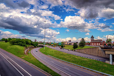 Photograph - I-55 Approaching Downtown St Louis_dsc4569_16_68 by Greg Kluempers