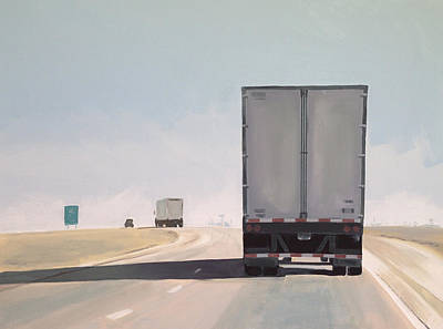 Truck Painting - I-55 North 9am by Jeffrey Bess