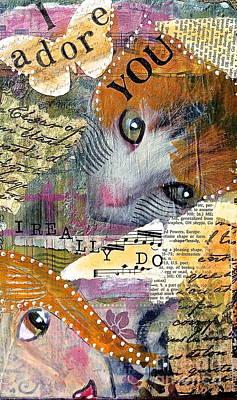 I Adore You Art Print by Kathy Donner Parara