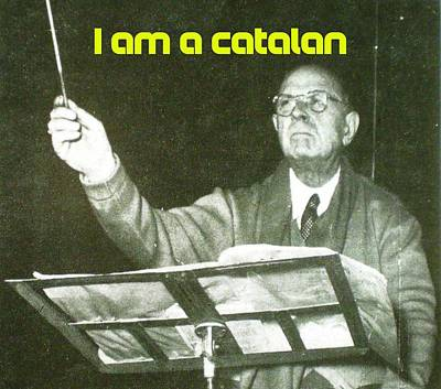 Painting - I Am A Catalan By Pablo Casals A by Celestial Images