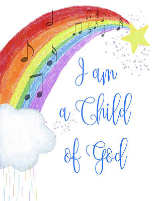 Digital Art - I Am A Child Of God by Ramona Murdock