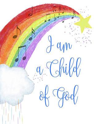 Digital Art - I Am A Child Of God by Ramona Murdock