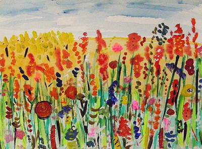 Painting - I Am A Happy Garden by Mary Carol Williams