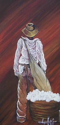 Gullah Art Painting - I Am A Man by Sonja Griffin Evans