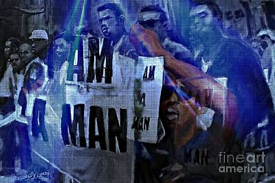 Digital Art - I Am A Man by Vannetta Ferguson