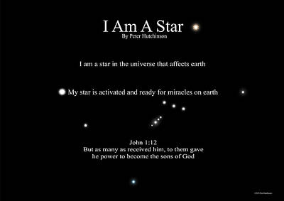 Photograph - I Am A Star by Bible Verse Pictures