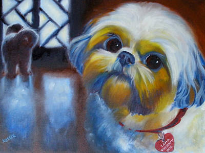 Painting - I Am A Therapy Dog by Kaytee Esser