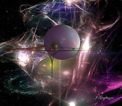 Fractal Orbs Digital Art - I Am Alpha Omega by Jean Gugliuzza